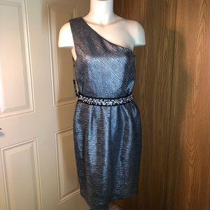 NWT Allen B. By Allen Schwartz Metallic Dress